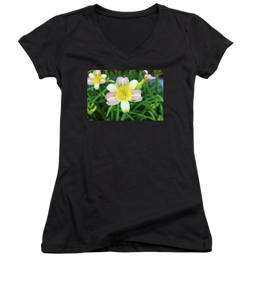 Yellow Daylily Women's V-Neck