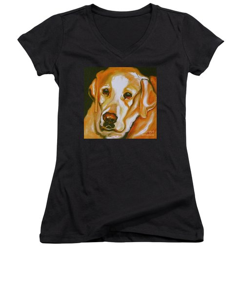 Yellow Lab Amazing Grace Women's V-Neck (Athletic Fit)