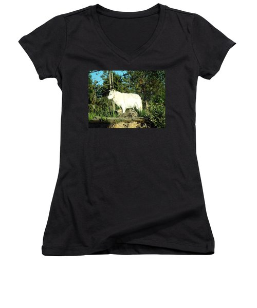 Yellowstone Wolf Pack Member Women's V-Neck T-Shirt