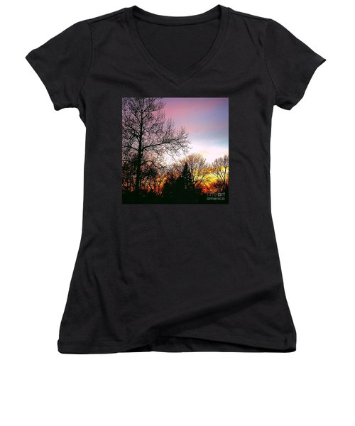 Yesterday's Sky Women's V-Neck