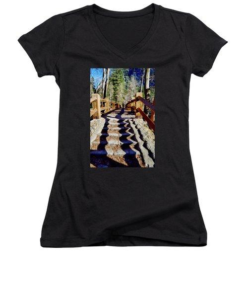 Yosemite Footbridge  Women's V-Neck T-Shirt