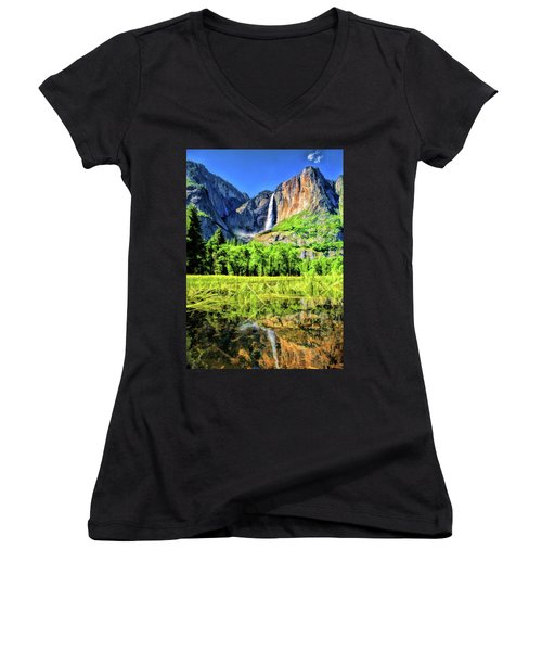 Yosemite National Park Bridalveil Fall Women's V-Neck (Athletic Fit)