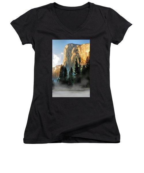 Yosemite National Park El Capitan Women's V-Neck (Athletic Fit)