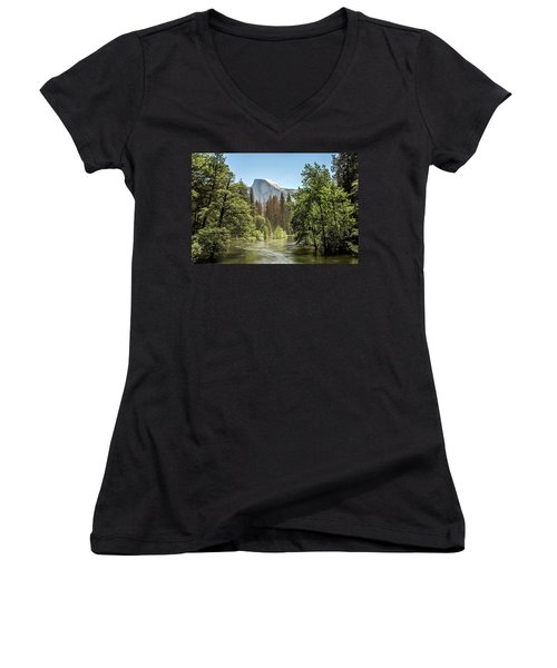 One Valley View Women's V-Neck T-Shirt (Junior Cut) by Ryan Weddle
