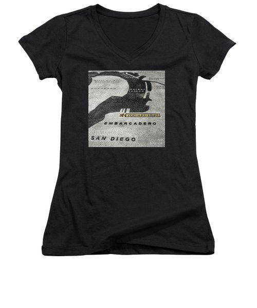 You Are Here Women's V-Neck (Athletic Fit)