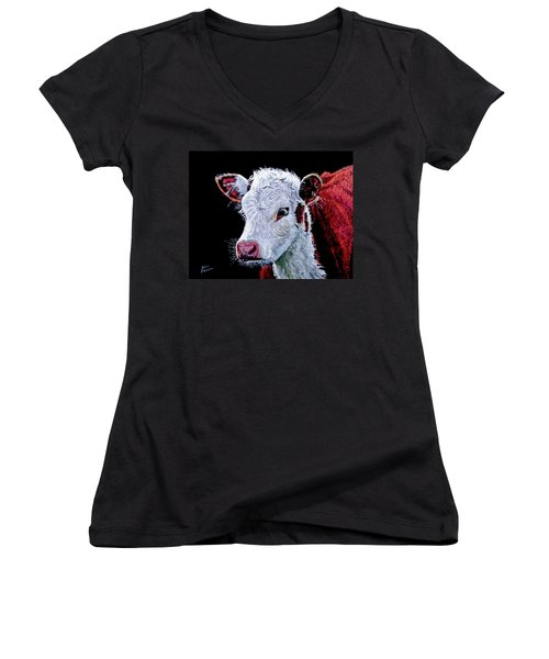 Young Bull Women's V-Neck (Athletic Fit)