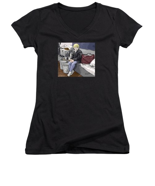 Young Fisherman Women's V-Neck T-Shirt