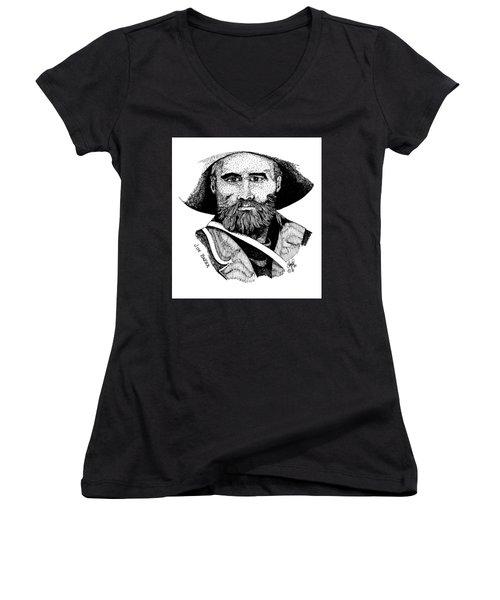 Young Jim Baker Women's V-Neck T-Shirt