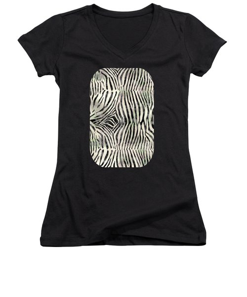 Zebra Print Women's V-Neck
