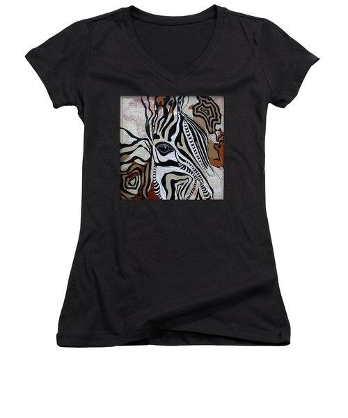Zebroid Women's V-Neck T-Shirt