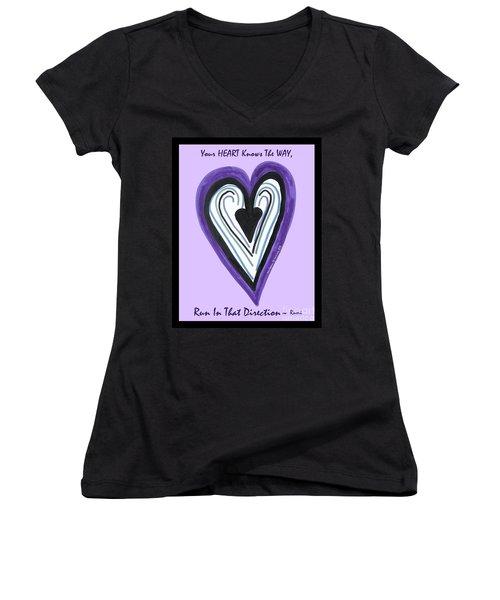 Zen Card Heart Path Women's V-Neck (Athletic Fit)