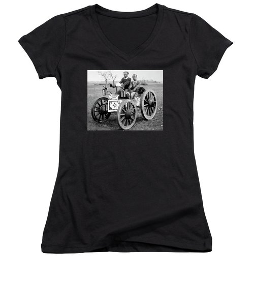 Zulu Motor Cab 1903 Women's V-Neck (Athletic Fit)