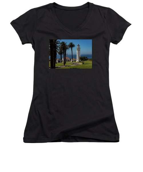 Point Vicente Lighthouse Women's V-Neck