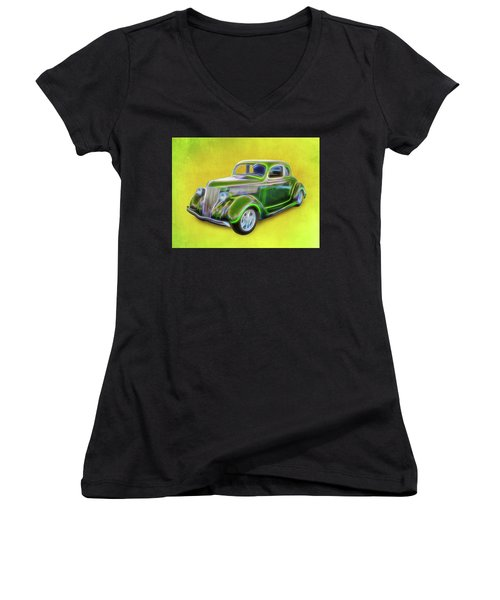 1936 Green Ford Women's V-Neck