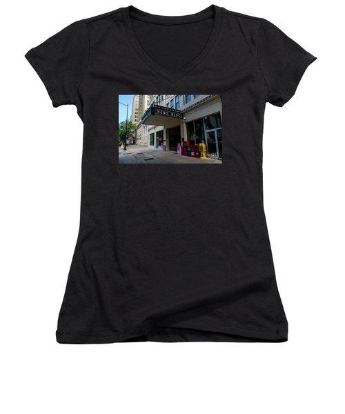Broad Street Downtown Augusta Ga Women's V-Neck