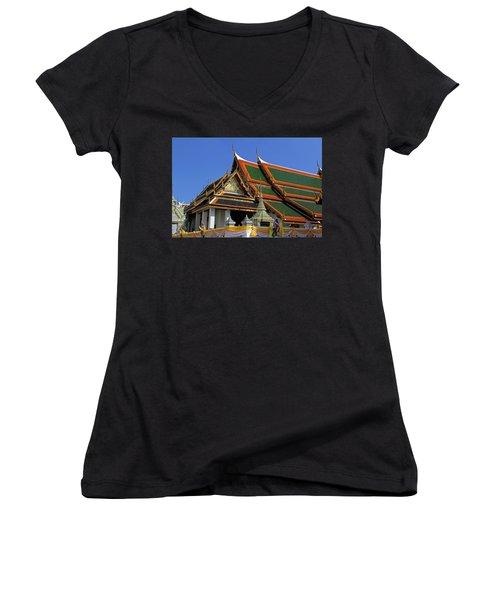 Bangkok, Thailand - Wat Phra Kaew - Temple Of The Emerald Buddha Women's V-Neck