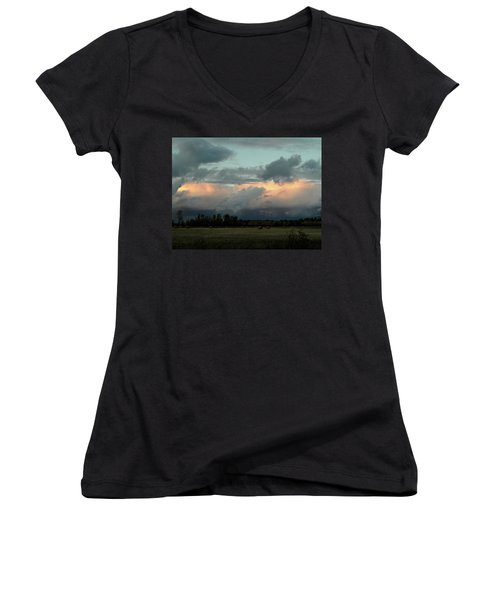 Colossal Country Clouds Women's V-Neck