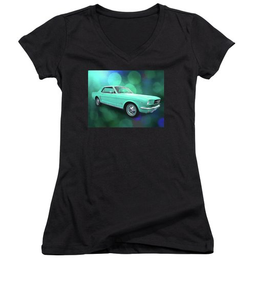 65 Mustang Women's V-Neck (Athletic Fit)