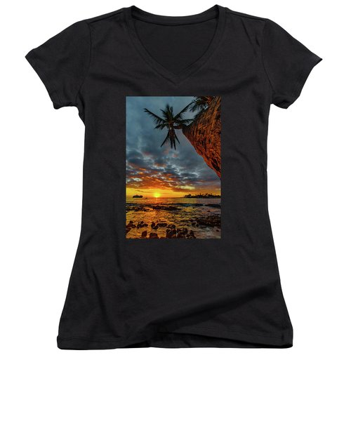 A Typical Wednesday Sunset Women's V-Neck