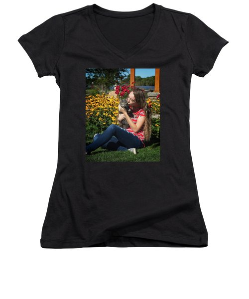 1A Women's V-Neck (Athletic Fit)