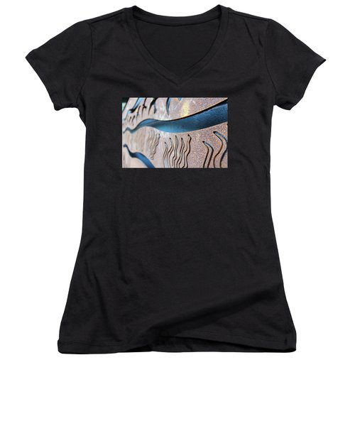 Abstract Lake Patricia Sign 1 Women's V-Neck