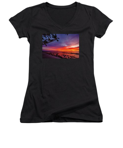 After Sunset Vibrance Women's V-Neck