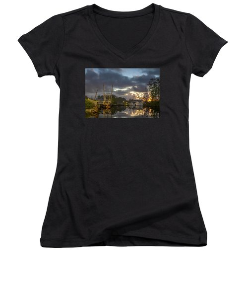 After The Storm Sunrise Women's V-Neck