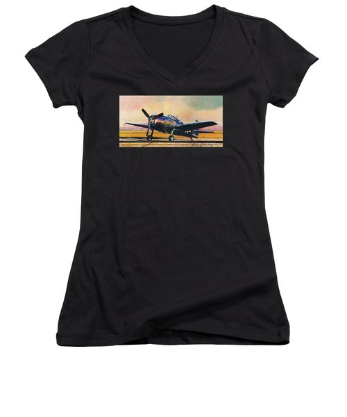 Airshow Hellcat Women's V-Neck
