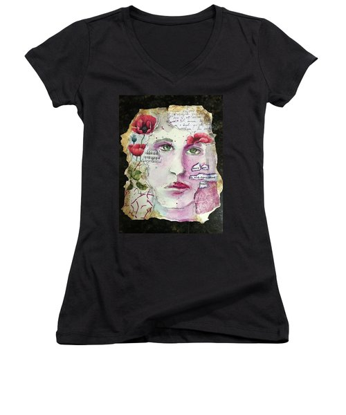 An Old-fashioned Heart Women's V-Neck
