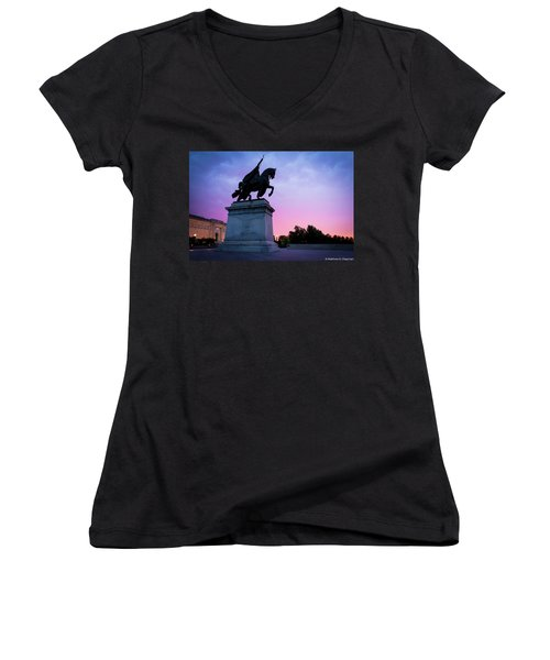 Apotheosis Of St. Louis, King Of France Women's V-Neck
