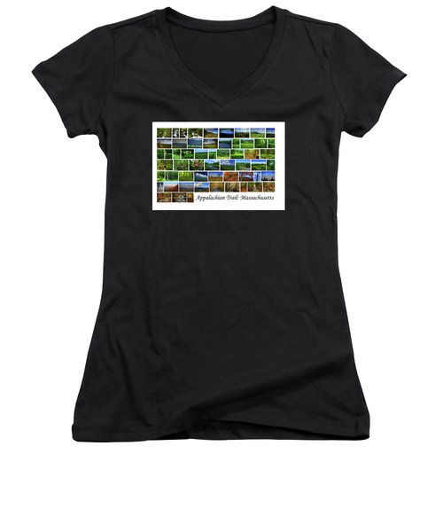 Women's V-Neck (Athletic Fit) featuring the photograph Appalachian Trail Massachusetts by Raymond Salani III