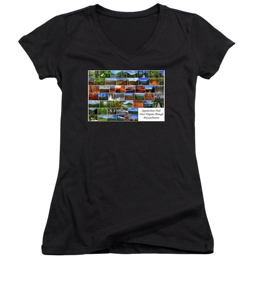 Women's V-Neck (Athletic Fit) featuring the photograph Appalachian Trail West Virginia Through Massachusetts by Raymond Salani III