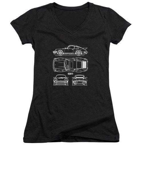 The 911 Turbo Blueprint Women's V-Neck