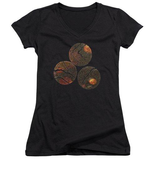 Atoms Ink Artwork Women's V-Neck