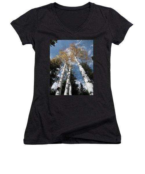 Autumnal Aspen Women's V-Neck