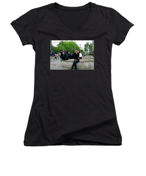 Beijing Street Women's V-Neck