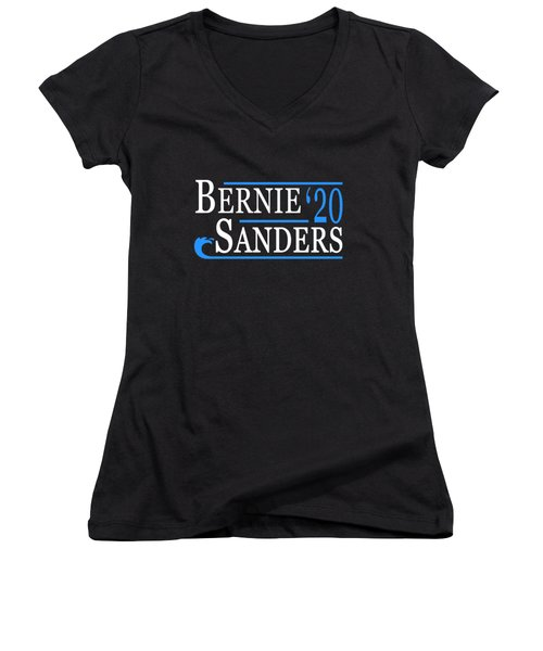 Bernie Sanders Blue Wave 2020 Women's V-Neck