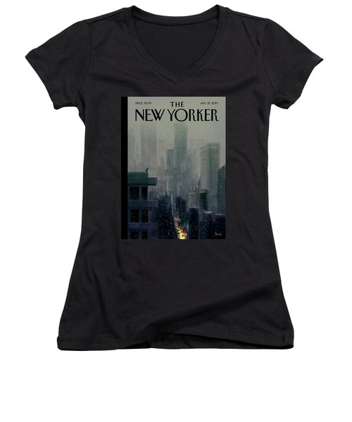 Big City Women's V-Neck