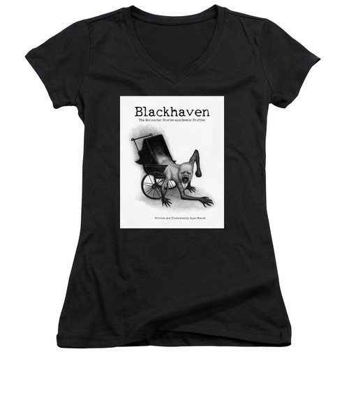 Blackhaven The Encounter Stories And Demon Profiles Bookcover, Shirts, And Other Products Women's V-Neck