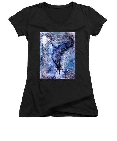 Blue Hummingbird Women's V-Neck