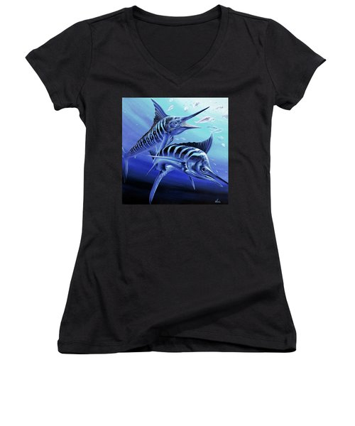 Blue Marlins Women's V-Neck