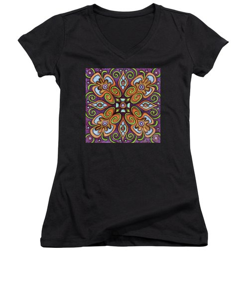 Botanical Mandala 11 Women's V-Neck