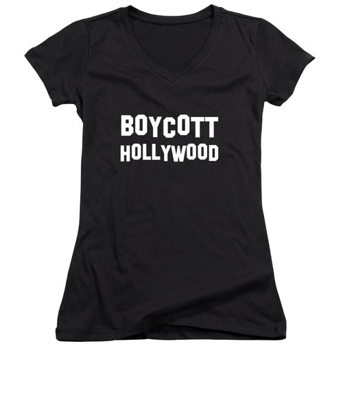 Boycott Hollywood Women's V-Neck