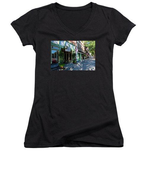 Broad Street Downtown Augusta Ga Women's V-Neck