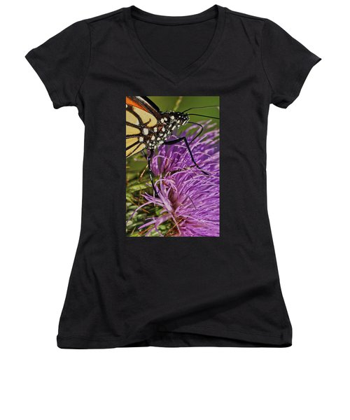 Butterfly Closeup Vertical Women's V-Neck
