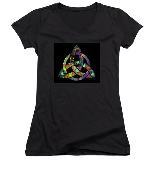 Celtic Triquetra Or Trinity Knot Symbol 3 Women's V-Neck