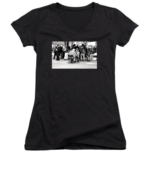 Chess Match Union Square  Women's V-Neck