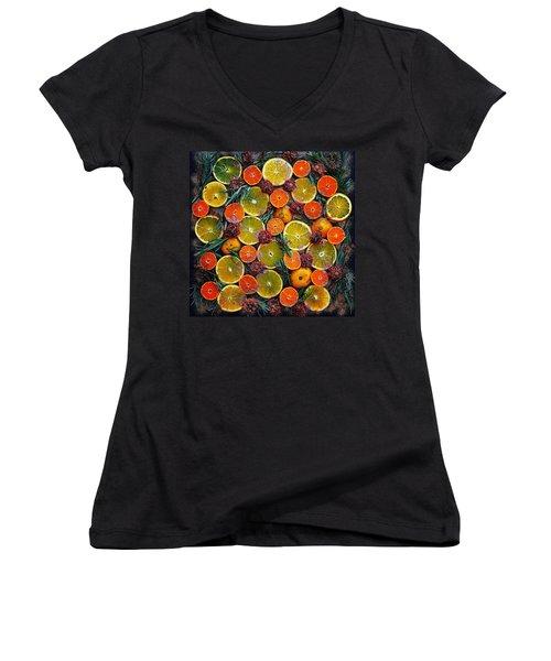Citrus Time Women's V-Neck