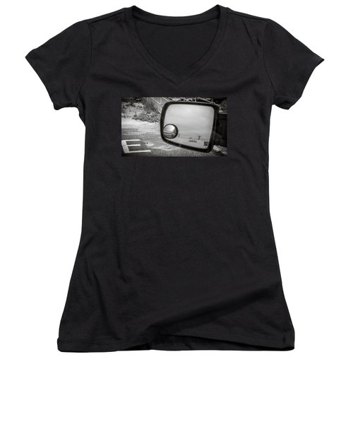 Cloudy Day Reflection Women's V-Neck
