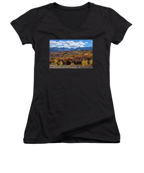 Women's V-Neck featuring the photograph Colorado Color Lalapalooza by James BO Insogna